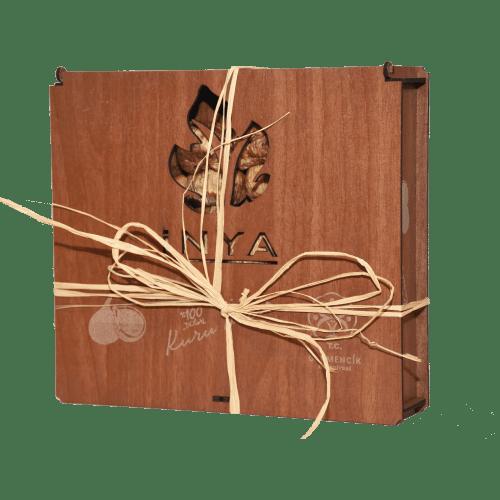 Germencik Belediyesi İnya Kuru İncir 1000 gr Ahşap Kutu